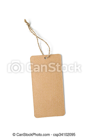 blank paper tag - csp34102095