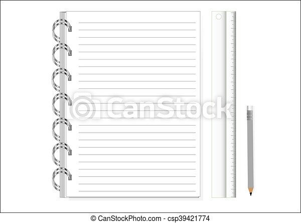 Blank Paper with Notebook Vector - csp39421774