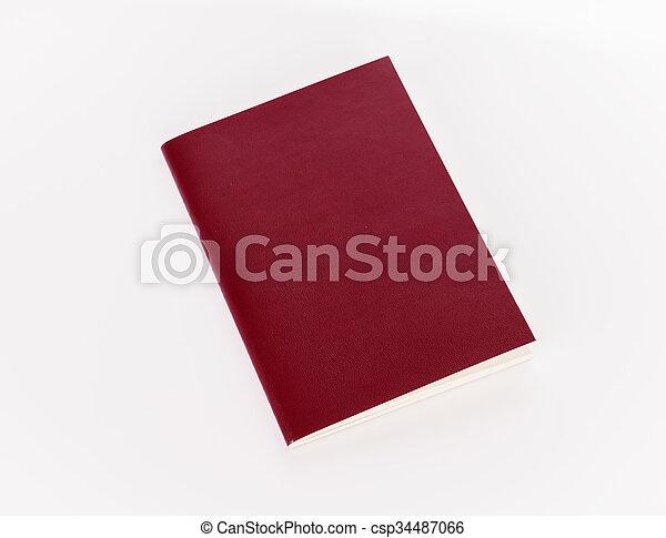 Blank passport  isolated on white background - csp34487066