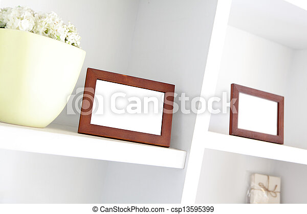 blank photo frame with copy space - csp13595399