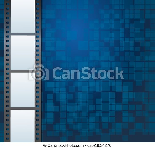 Blank photo or video template - csp23634276