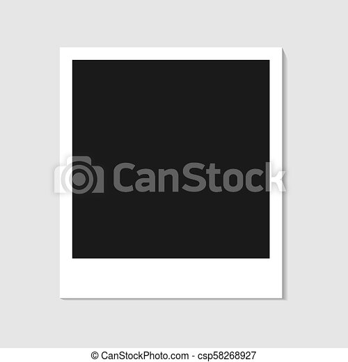 Blank Photo Polaroid Frame Isolated On White Background Shadow Effect And Empty Space For Your Photography Picture Scrapbook Album Decoration