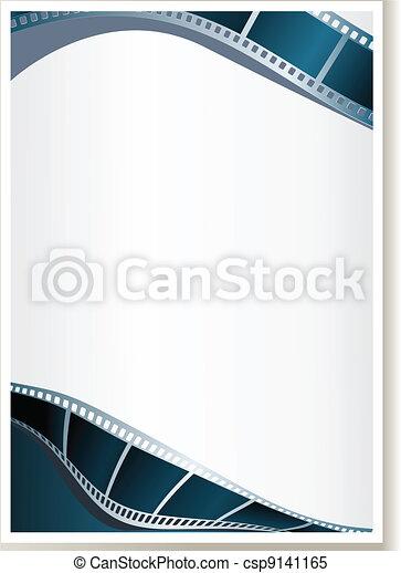 Blank photo, video template - csp9141165