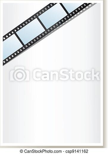 Blank photo, video template - csp9141162