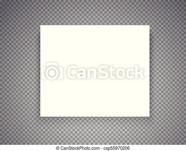 Blank picture frame on transparent background.