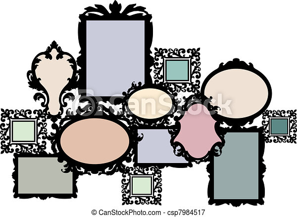 blank picture frame set - csp7984517