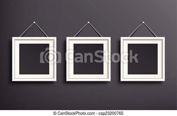 blank picture frame template set  - csp23200765