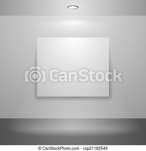 Blank picture on the wall - csp21182549