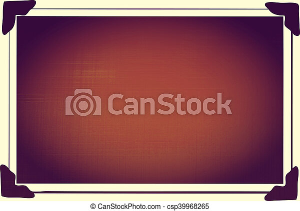 Blank Picture with photo corners - csp39968265