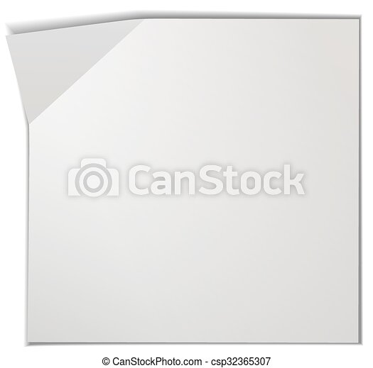 blank piece of paper illustration