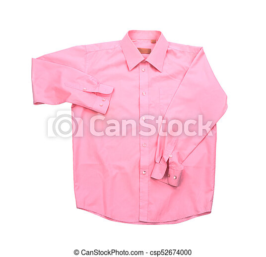 Blank pink shirt isolated on white background - csp52674000