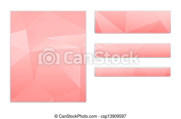 blank pink template - csp13909597