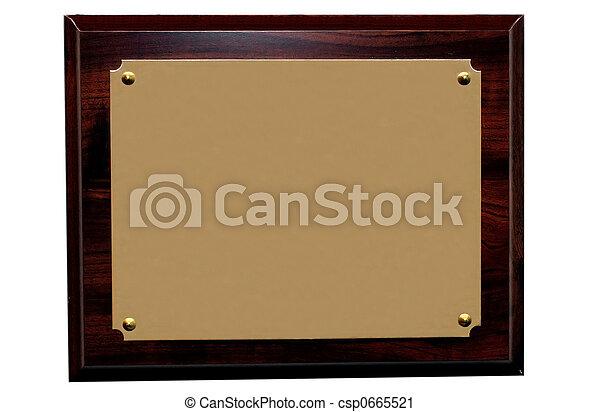 Blank Plaque - csp0665521