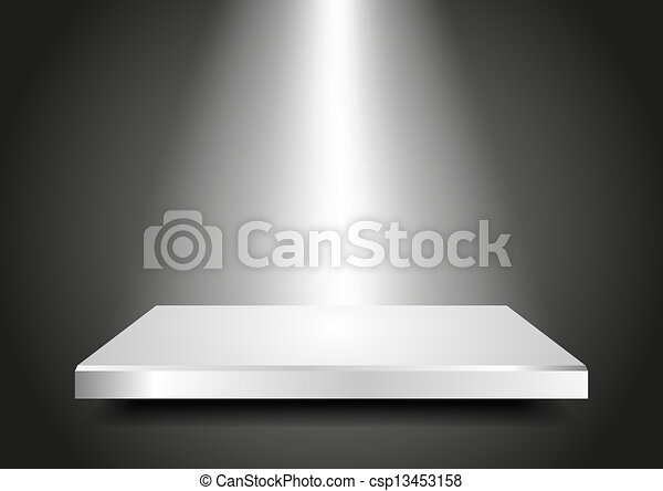 Blank podium 3D. Presentation template for your product.  - csp13453158