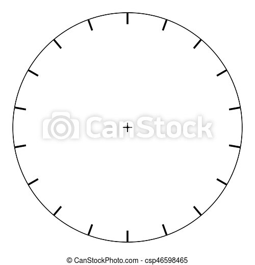 Blank Polar Graph Paper Protractor Pie Chart Vector Clip Art