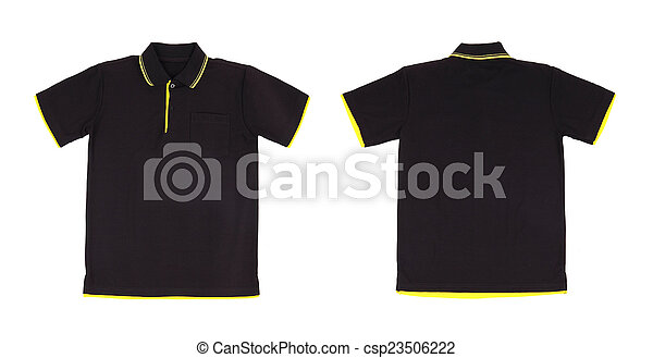 ec3dc5562345da Blank polo shirt set (front, back) on white background.