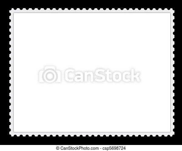 Blank Postage Stamp Background - csp5698724