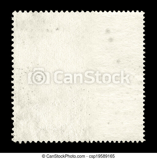 Blank postage stamp background - csp19589165