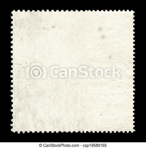 Blank postage stamp background - csp19589165