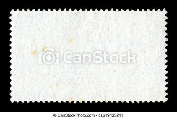 Blank postage stamp background - csp19435241