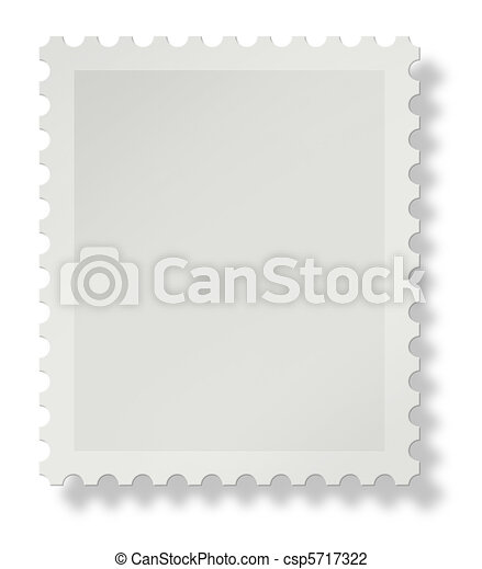 Blank postage stamp - csp5717322