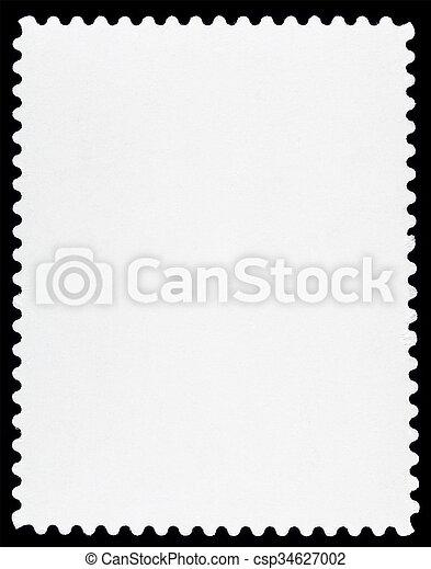 Blank Postage Stamp - csp34627002