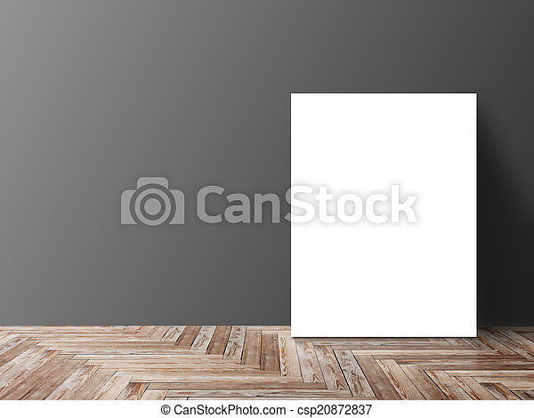 Blank Poster Hanging On Wall