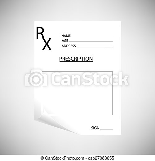 Blank Prescription - csp27083655