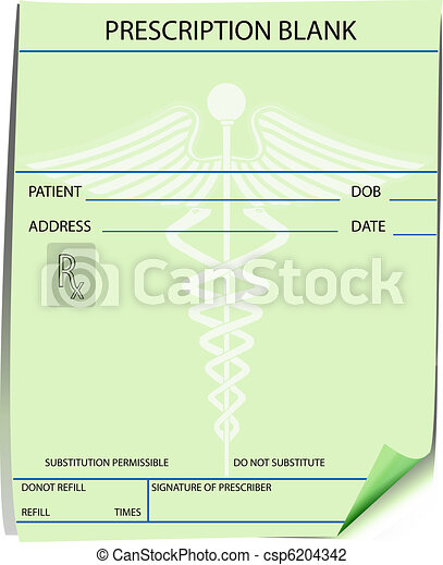 Blank prescription form - csp6204342