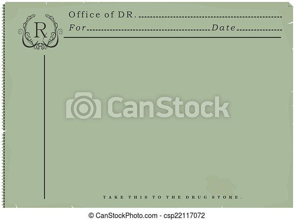 Blank prescription. - csp22117072