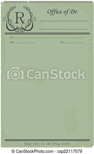 Blank prescription. - csp22117079