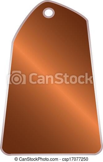 Blank price tag  - csp17077250