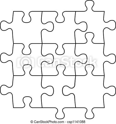 blank puzzle pieces - csp1141088
