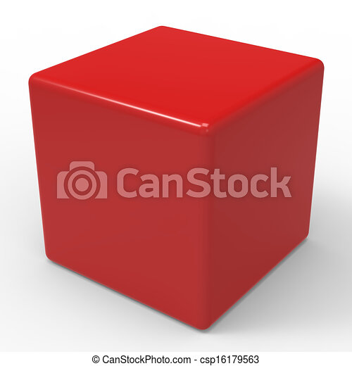 Blank Red Dice Shows Copyspace Cube Or Box - csp16179563