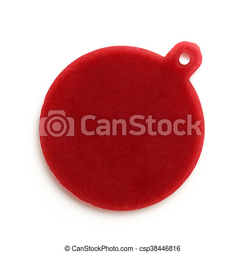 Blank red round badge - csp38446816
