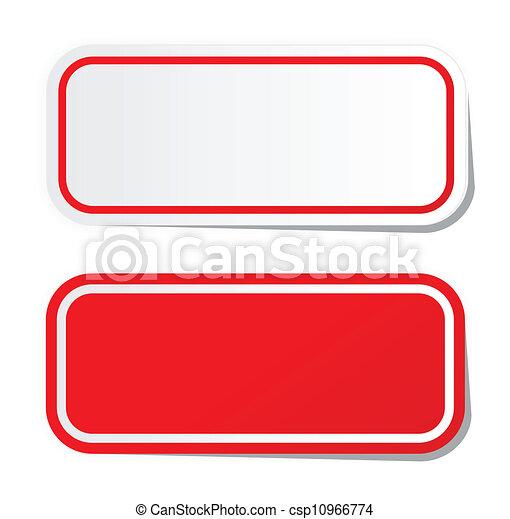 Blank red sticker - csp10966774