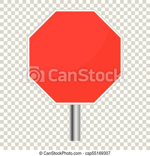 blank red stop sign vector icon empty danger symbol vector rh canstockphoto com stop sign vector image stop sign vector file