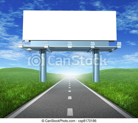 Blank road billboard - csp8170186