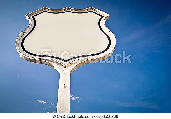 Blank road sign Interstate. - csp8558286