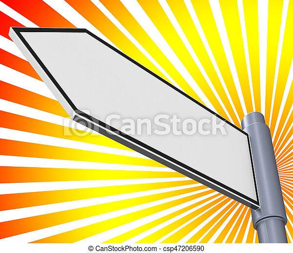 Blank Road Sign Means Copyspace Message 3d Illustration - csp47206590
