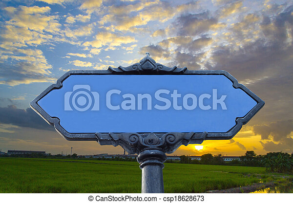 blank road sign - csp18628673