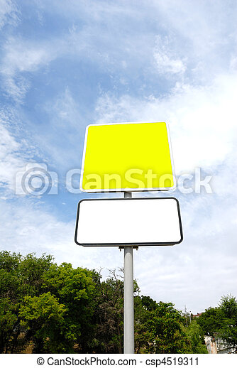 Blank road sign - csp4519311