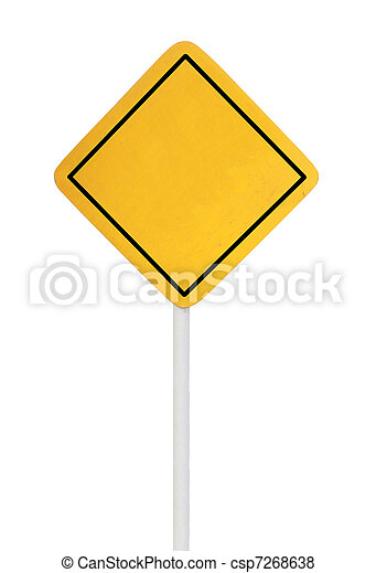 blank road sign - csp7268638