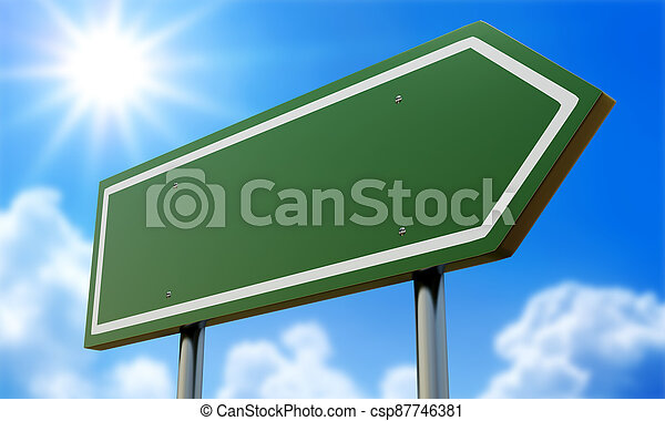 Blank Road Sign - Ready for your own message. - csp87746381