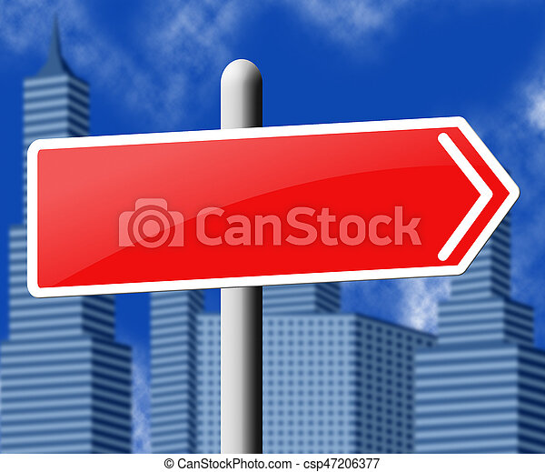 Blank Road Sign Showing Copyspace Message 3d Illustration - csp47206377