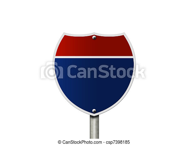 Blank road sign - csp7398185