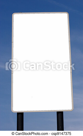 blank road sign - csp9147375