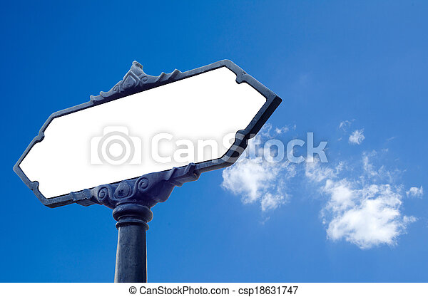 blank road sign - csp18631747