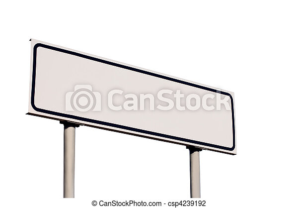Blank Road Sign - csp4239192