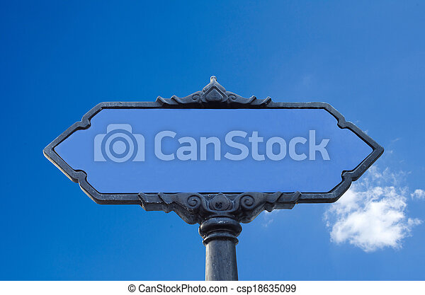blank road sign - csp18635099